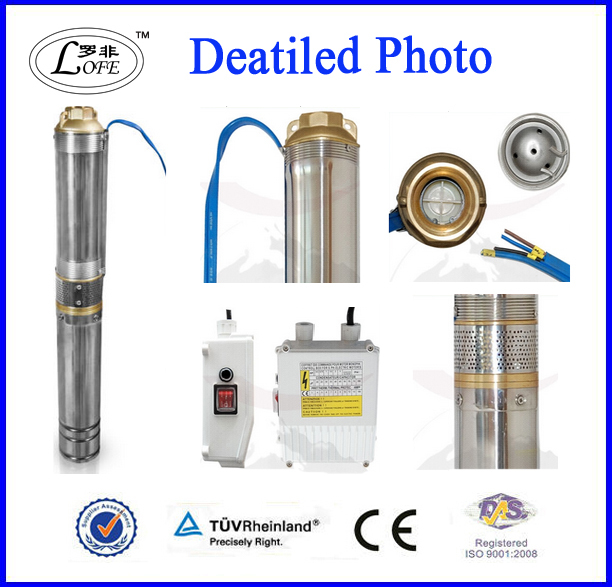 CE 2HP centrifugal submersible water pump