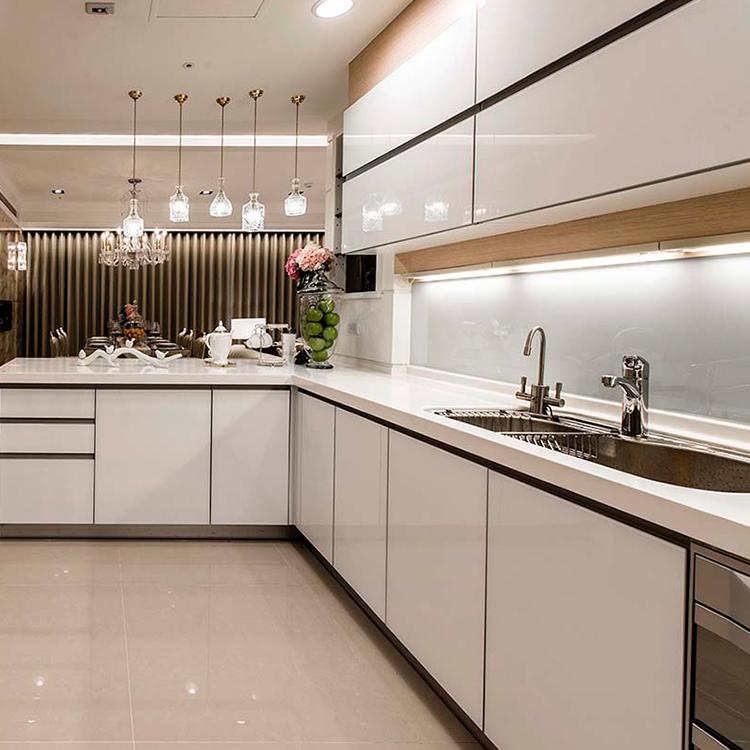 2020 New Design  PVC Board Kitchen Cabinet Design Kitchen Furniture For Small Modern Kitchen Cabinets Sale