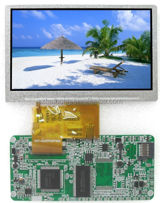 4.3inch TFT color lcd dislay from ShenZhen HuiHong Tenchnology Co.,LTD