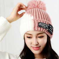 Hot sell good quality Autumn and winter women warm Mixed colored Knitted Wool Hat