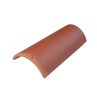 red barrel half round clay tile roof