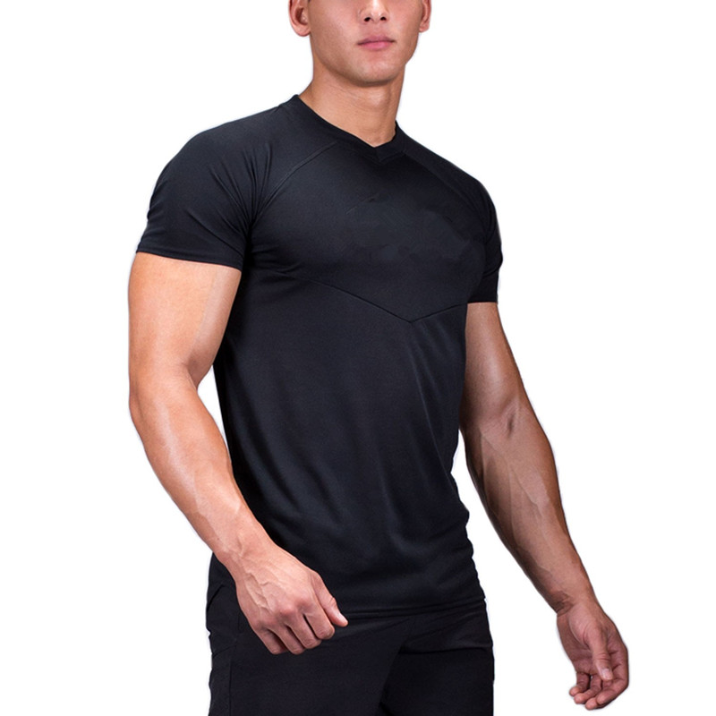 mens regular fit black workout sports tee shirts