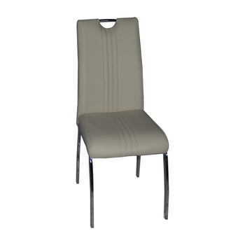 Surprising Top Grade Grey Line Leather Four Chrome Legs Dining Chair With Handle Buy Line Leather Dining Chair Four Chrome Legs Dining Chair Dining Chair With Beatyapartments Chair Design Images Beatyapartmentscom