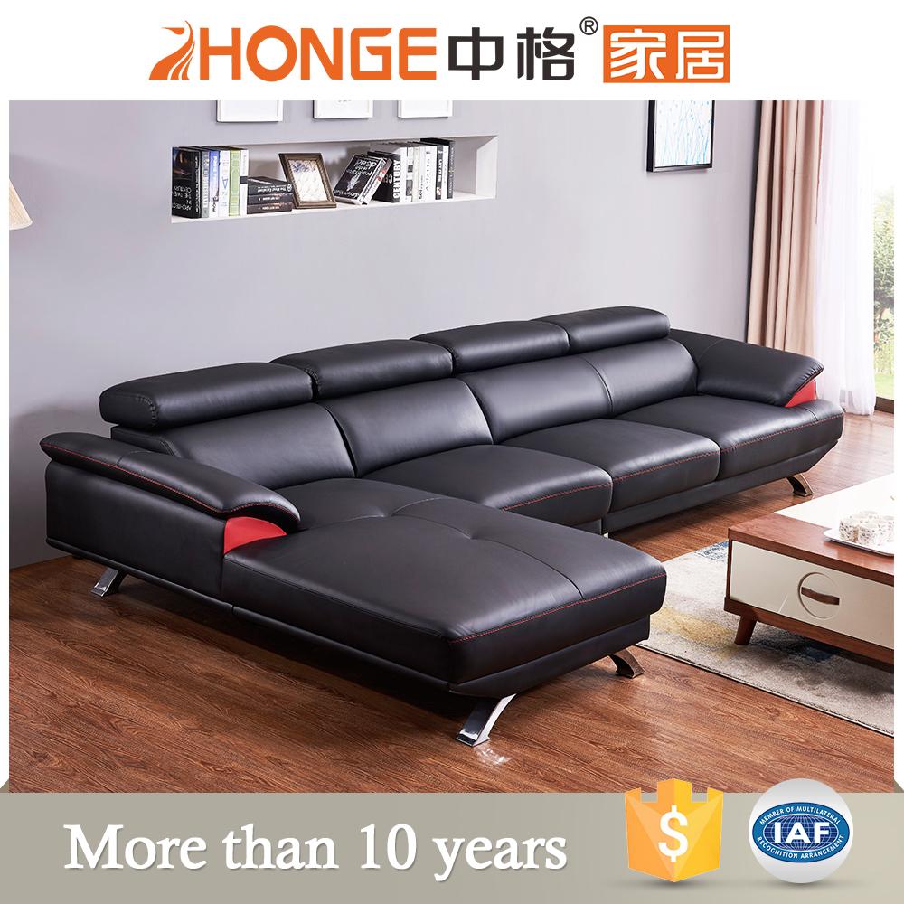 Newest Black Color Set Designs Living Room Furniture Modern L Shaped Sofa -  Buy Black Furniture Sofa,Black Leather Furniture Sofa,Sofa Set Designs ...