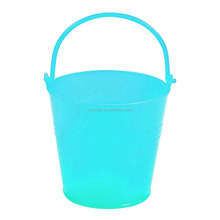 2016 Promotional Creative High Quality Mini Turquoise Pails Wholesale Small Plastic Buckets with Handle for Decoration