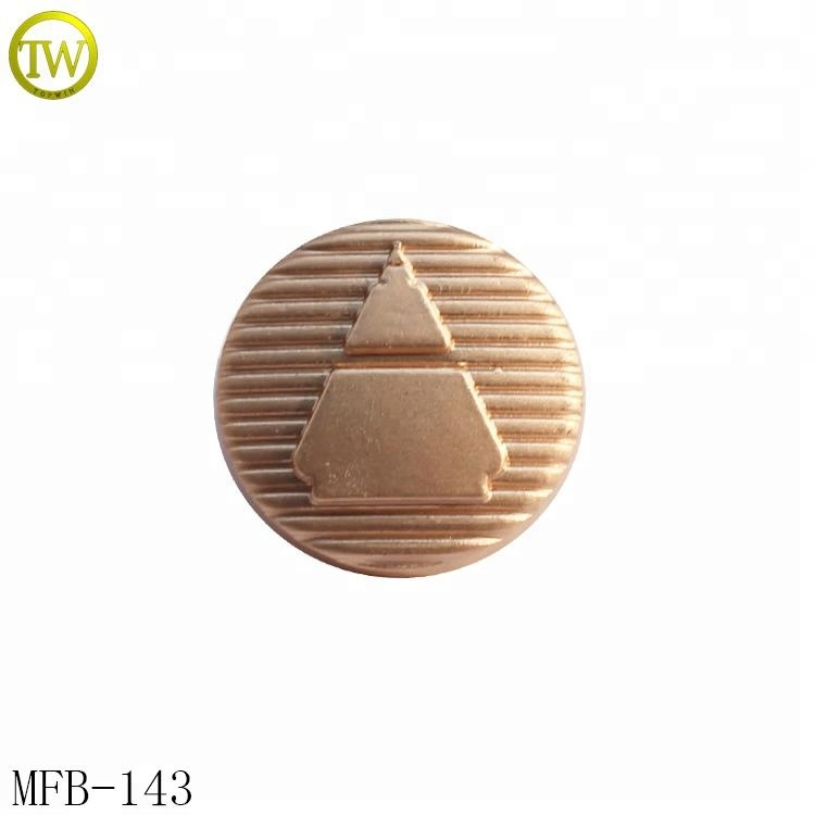 MFB143 Fancy alloy shank button for shit luxury garment branded logo buttons supply
