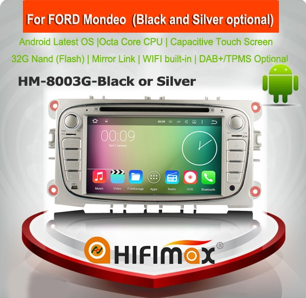 HIFIMAX Android usb radio cd for ford mondeo car radio cd player for mondeo mk3 mk4