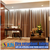 wholesale 100% polyester flame retardant dark drapery fabric used hotel drapery and anti uv waterproof hotel drapery