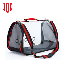2018 New Product Pet Travel Carrier For Small Dog And Cat Clear View Shoulder Carry Bag Pet Tote Crate