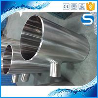 3A Sanitary Pipe Fittings 304/316 Stainless Steel Welding Reducing Straight Tee