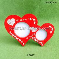 Valentine Double Hearts Photo Frame