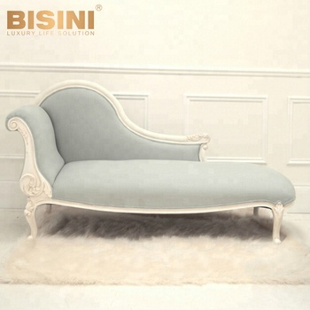 Beau Bisini Antique Design Kids Royal Carved Chaise Lounge Chair, American Style  Linen Toddler Lounge Chairs