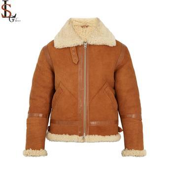 Wholesale Custom High Quality Stylish Fancy Mens Shearling Jackets