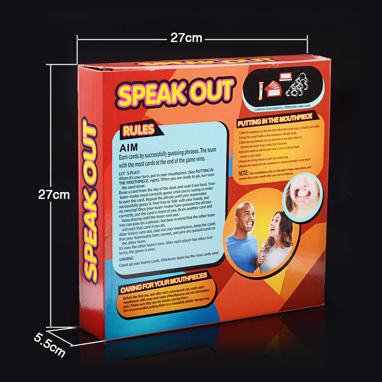 Wholesale fashion new christmas gift hot sale board game with speak out game