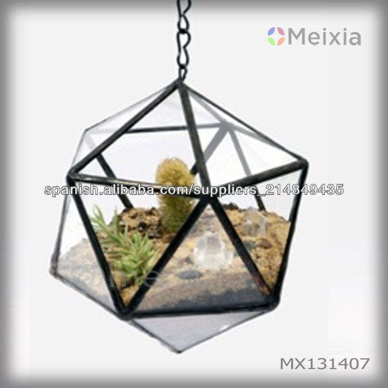 Mx131407 terrario de vidrio geom trica para el sostenedor for Decoracion hogar al por mayor