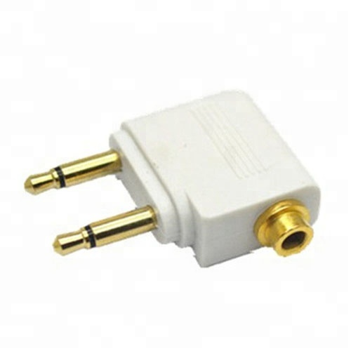 Gold airplane/airline travel 3.5MM audio headphone <strong>adapter</strong>