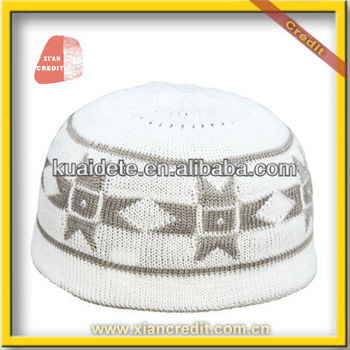100% Cotton High Quality Hand Knitted Crochet Muslim Prayer Caps ... 62c6ccafc47