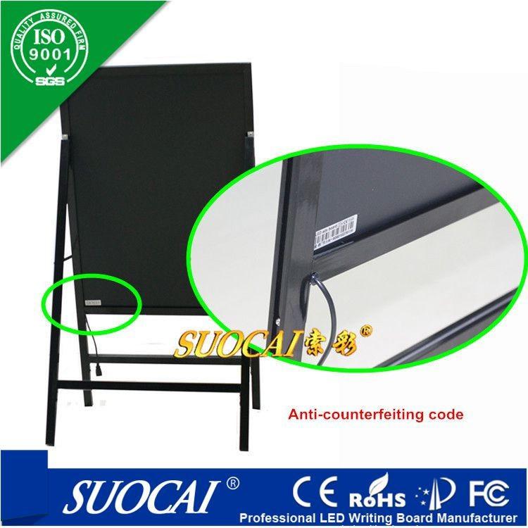alibaba chine lumineux publicit lectronique craie sur le tableau noir ecran d 39 affichage led id. Black Bedroom Furniture Sets. Home Design Ideas