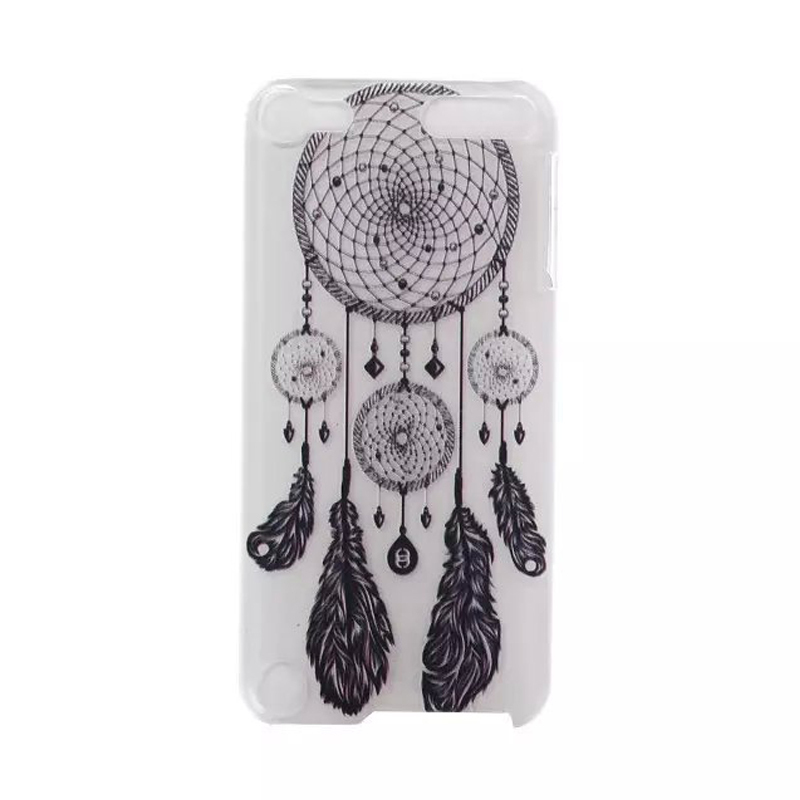 Fashion PC Painted Dream catcher Mandala flower Cute Clear case cover funda fundas Cover Coque Cases for Apple ipod touch 5