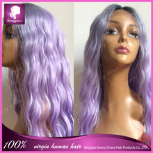 Synthetic Ombre 2 tone Full Machine Made Wig Body Wave Glueless African American Wigs Heat Resistant Hair Wigs in stock