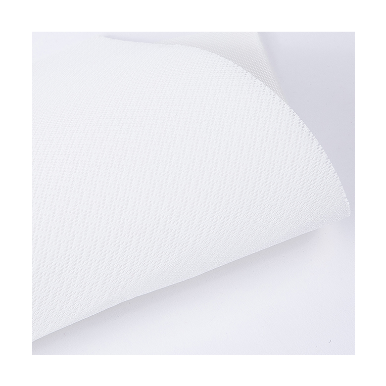 soft comfortable plain polyester clear white sandwich air mesh fabric for sports shoes