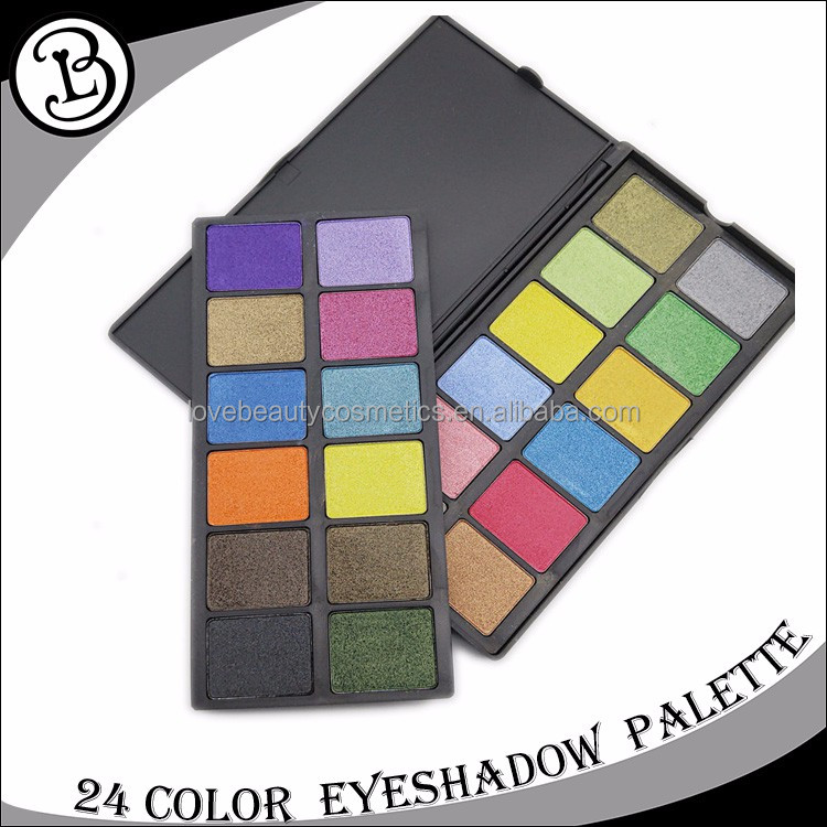 Cosmetic eyeshadow display 24 color makeup palette private label