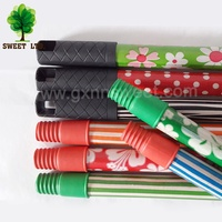 Colorful Metal Smooth Extension PVC Cover Broom stick