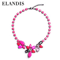 E-ELANDIS Beautiful jewelry necklace for ladys epoxy resin necklace