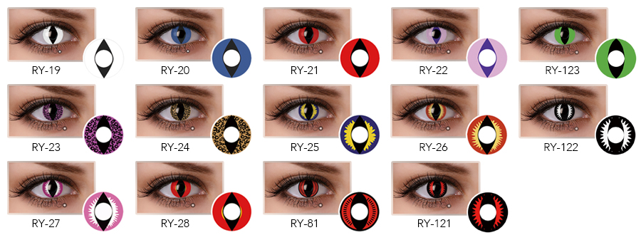 the gallery for gt red dragon eye contacts