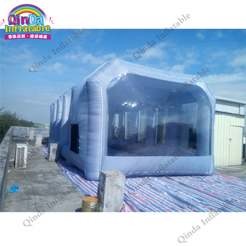 Nes Design wholesale 8x4x3m good quality portable inflatable spray booth/inflatable paint booth waterproof used