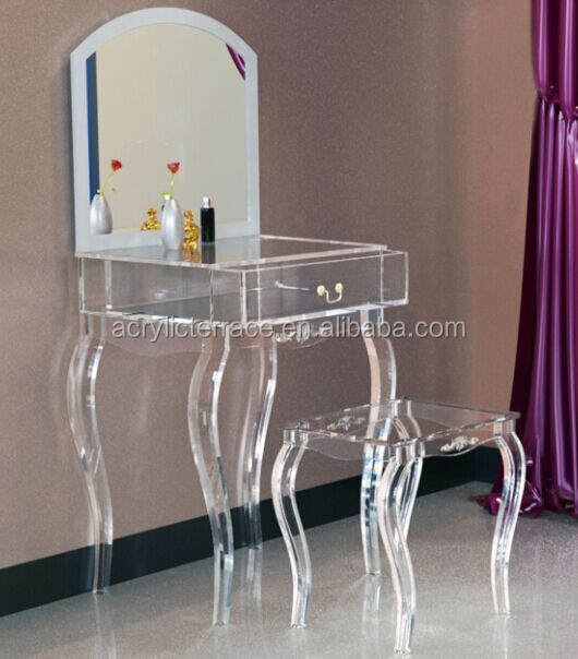 pretty nice 135ec 68633 2071507103 Lucite Dressing Table With Mirror,Acrylic Dressing Stool - Buy  Modern Dressing Table With Mirrors,Dressing Table With Cupboard,Drawer  Table ...