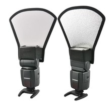 Hot Selling White Silver Tone Flash Light Barrier Reflector for SLR Camera