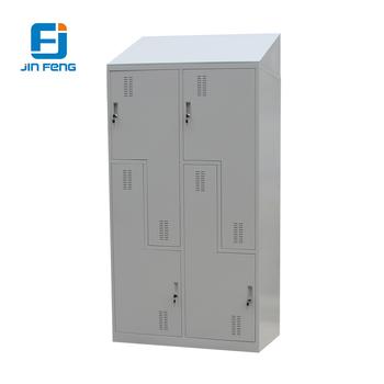 L shaped locker