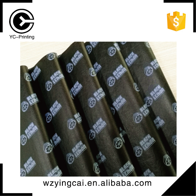 China customized balck made of 17gsm factory direct gift wrapping tissue paper