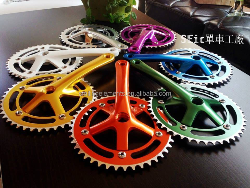 SEic fixed gear bike hollow chainwheel and crank