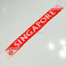 Singapore Team Football Fans Knitted Scarf