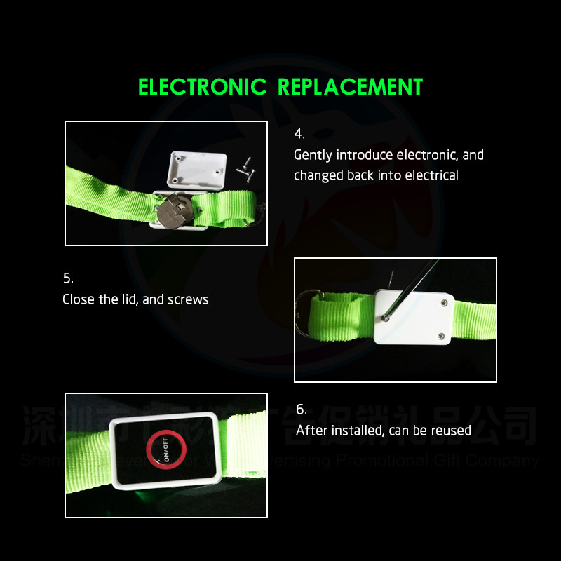 Original Factory Fashion Cute Retractable Neck LED Lanyard For  Minimum Order Glow in The Dark LED Lanyard for Party