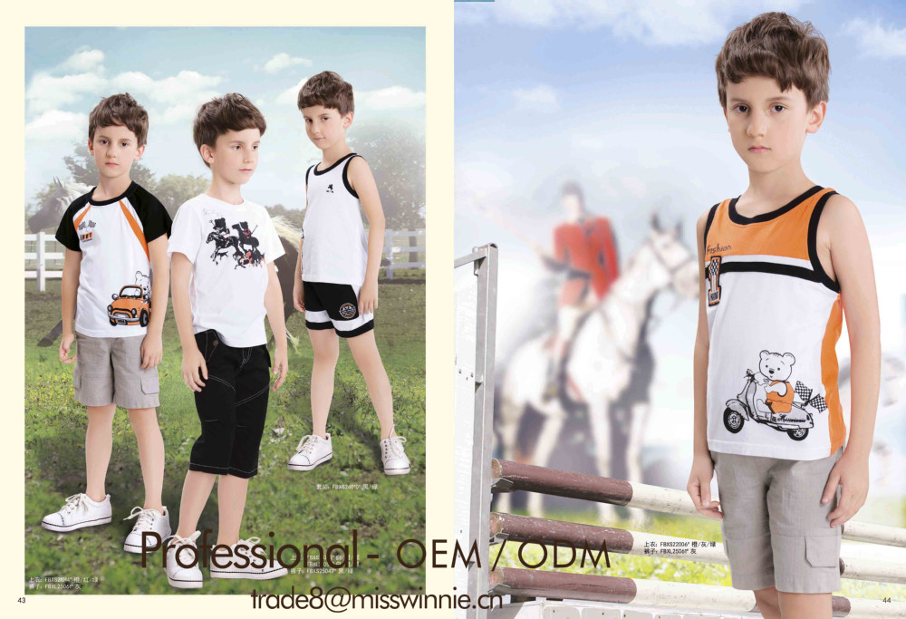 Fashion Boys T-shirt For 2-12 Years Old Boys In China Sewing ...