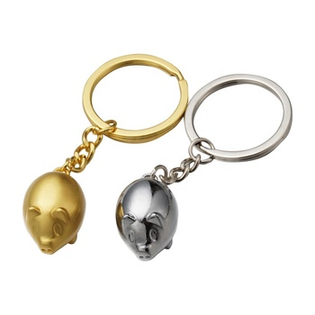 Shenzhen promotional custom metal pig keychain,piggy keychain for gifts