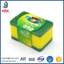 nylon scrubber sponge , dish washing scouring pad sponge, kitchen cleaning pad