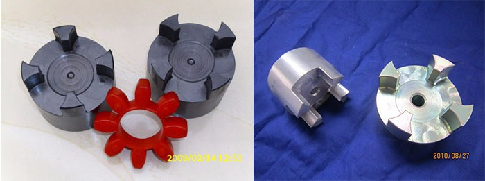 Cast iron electric motor shaft coupling