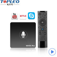 Commerciële prijs Google certificering full hd 3d video google android 7.1 tv box v95x pro met Q5 voice input air <span class=keywords><strong>muis</strong></span>