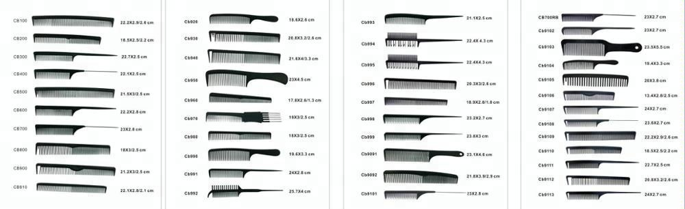 Salon & Personal Care Use high heat resistant carbon fiber hair cutting tail comb manufacturer