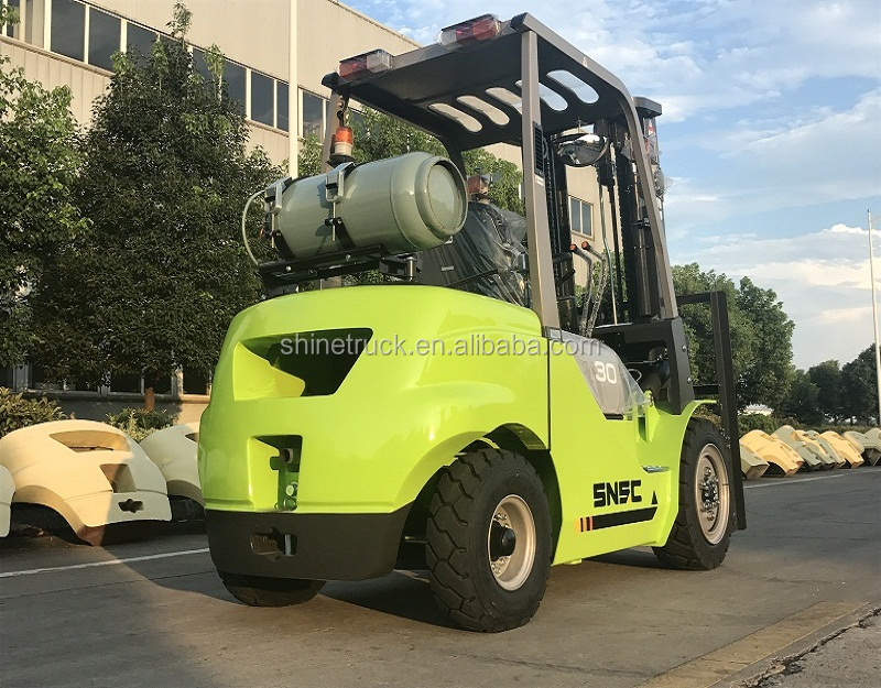 3000kg load capacity lpg gas dual fuel forklift with japan engine price