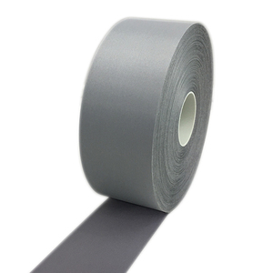 China manufacturer custom printed grey high light retro fabric polyester reflective tape for safety clothing