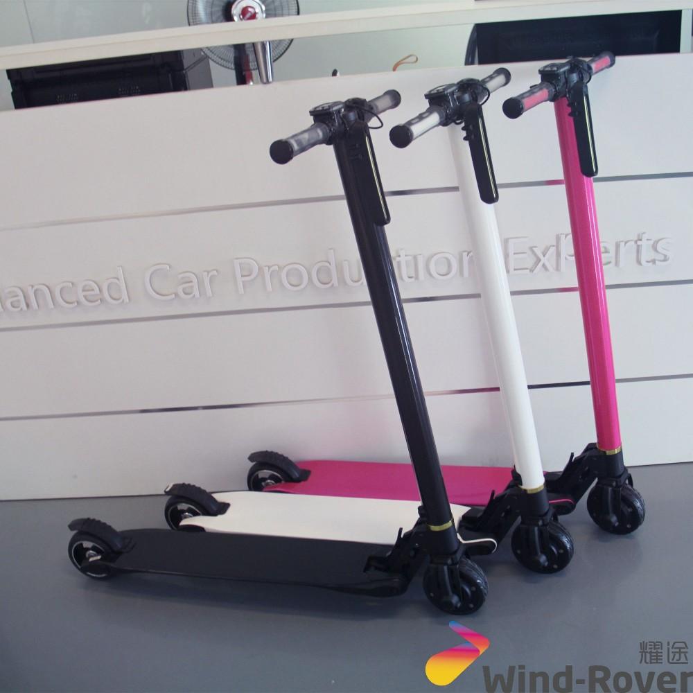 carbon fiber folding electric scooter toy scooter electric. Black Bedroom Furniture Sets. Home Design Ideas