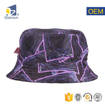 custom tie dyed fishing lady purple mesh vented cool bucket hat no minimum  with string 6c1c716309d