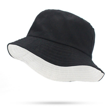 a6a60830e0d Solid Colors Black White Bucket Hats Women Men Outdoor Bucket Cap Women Hat  Unisex Hip Hop