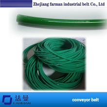 Wholesale 6mm Pu Polyurethane Green Jointless Round Belt