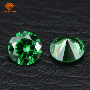 Wuzhou cheap wholesale aaa Grade synthetic cz stones loose round emerald cubic zirconia price
